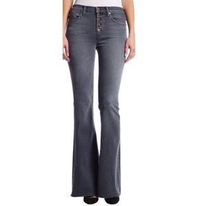 NWT HUDSON  / grey  high waist JODI flare